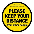 Social distancing vloersticker 'Please keep your distance' 20cm